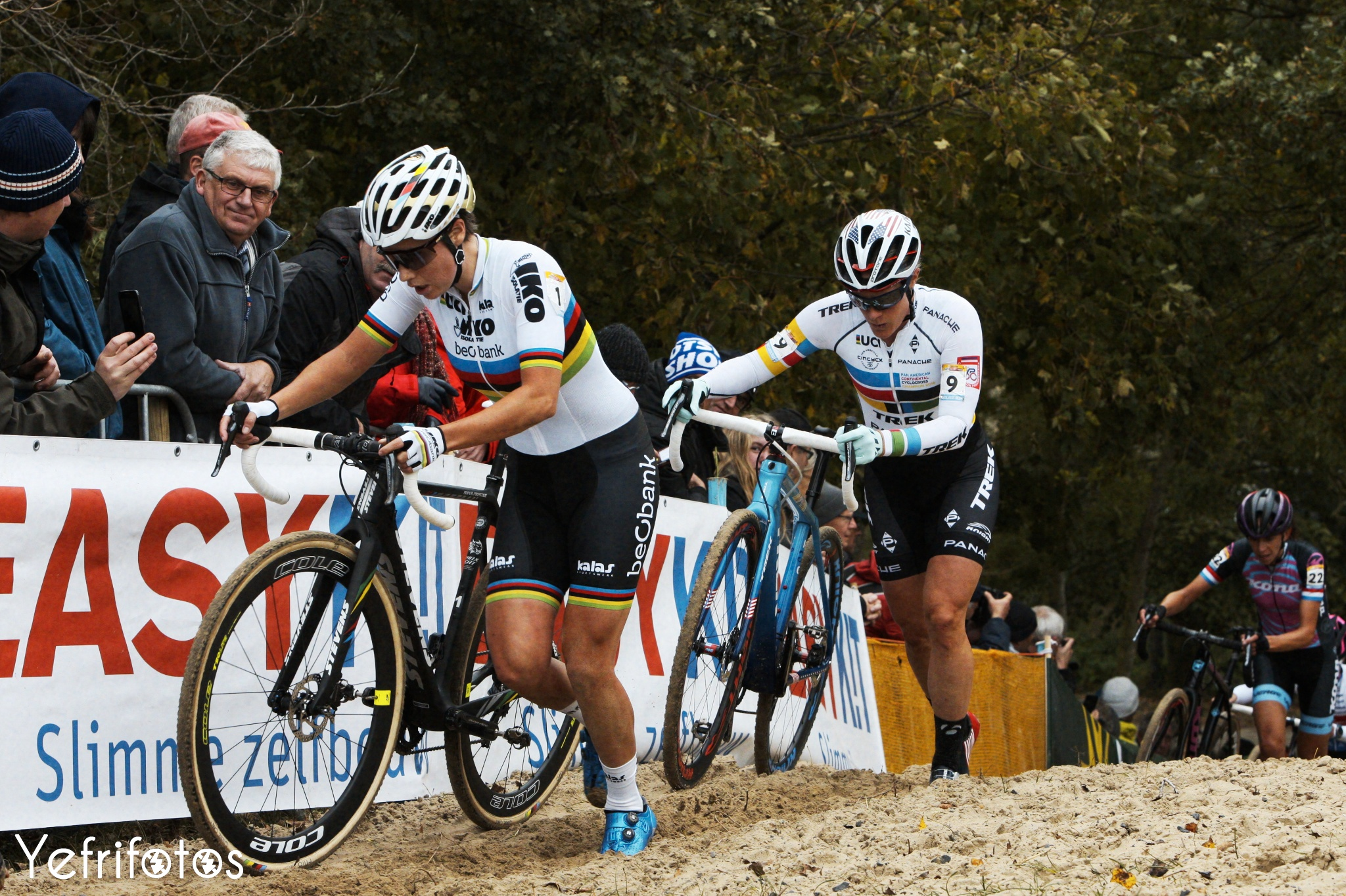 Koksijde - UCI Cyclocross World Cup - Sanne Cant - Katie Compton
