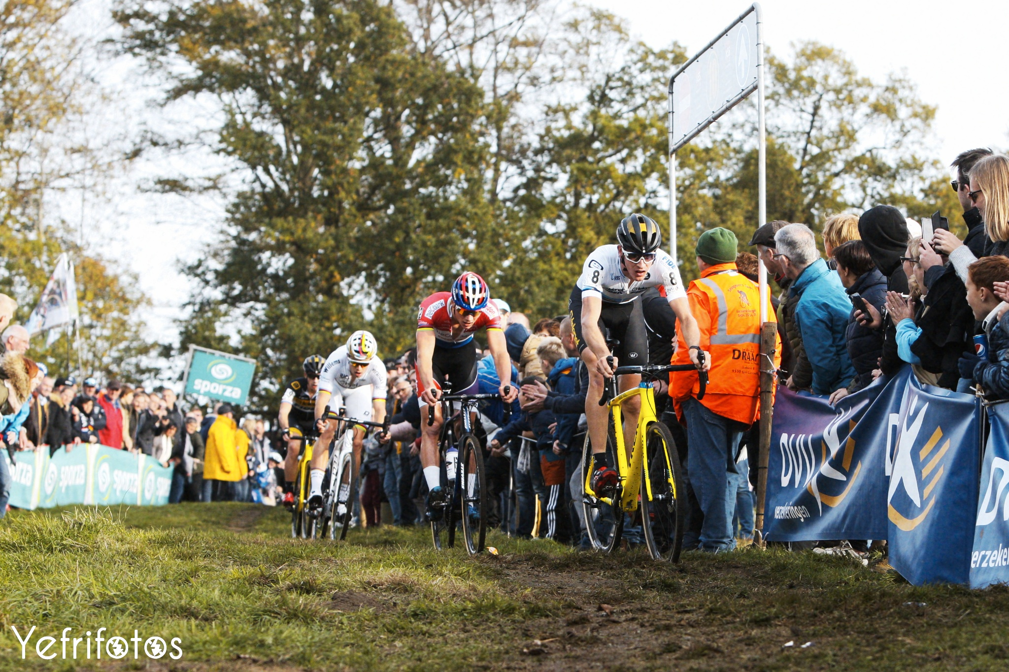 Toon Aerts - Mathieu Van der Poel - Wout van Aert - Lars van der Haar - Koppenbergcross