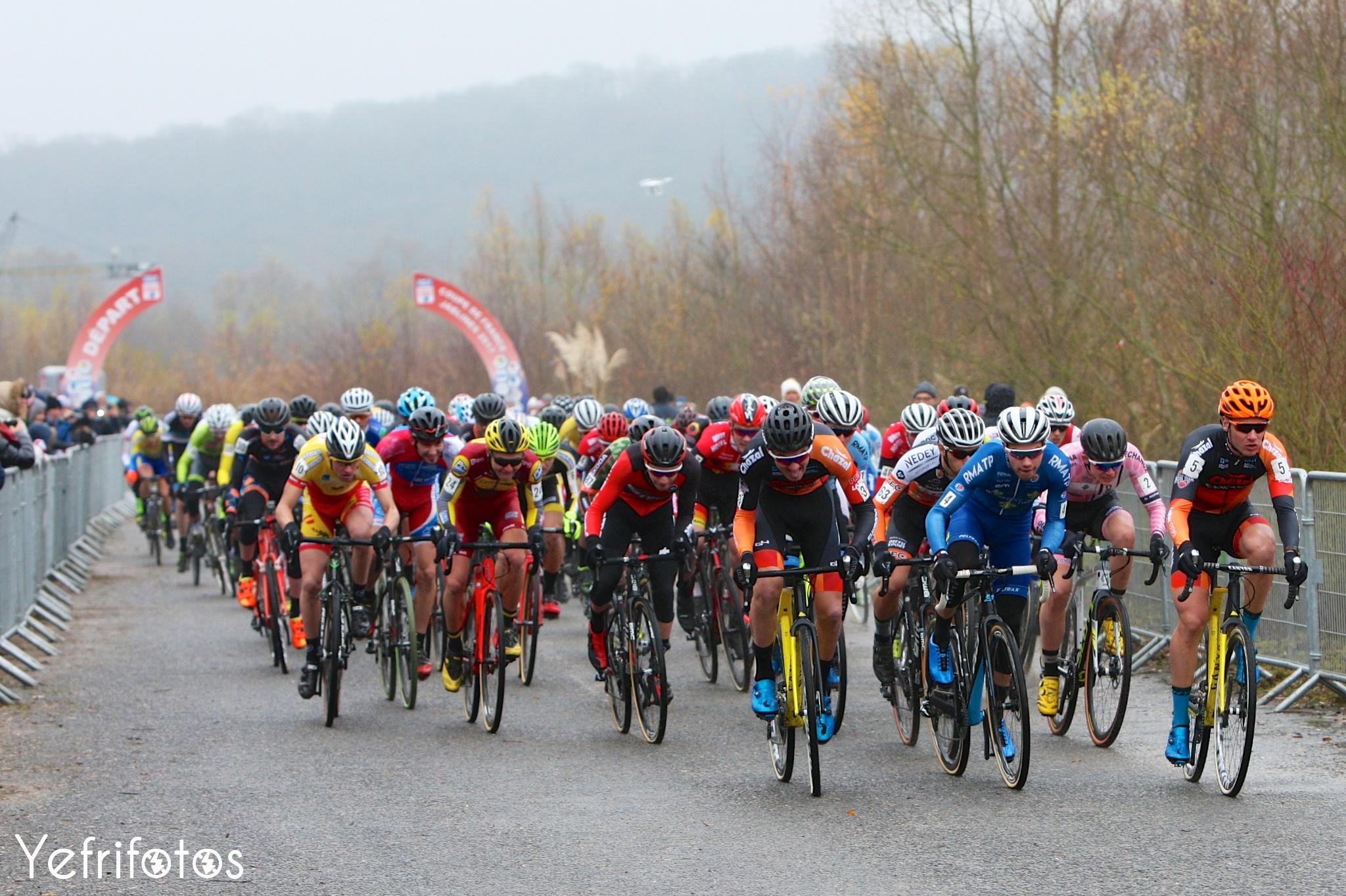 Départ Espoir - Jablines Coupe de France - Coupe de France Cyclocross Jablines
